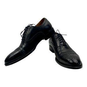 John Fluevog Men's Black Cap Toe Dress Shoe US 8.5